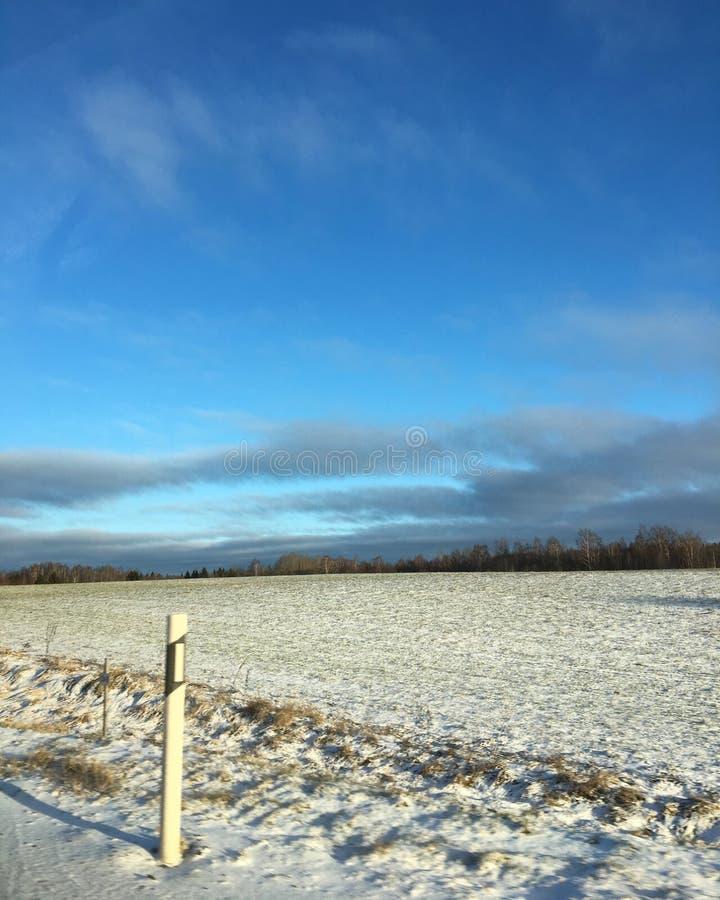 L'hiver en Estonie image libre de droits