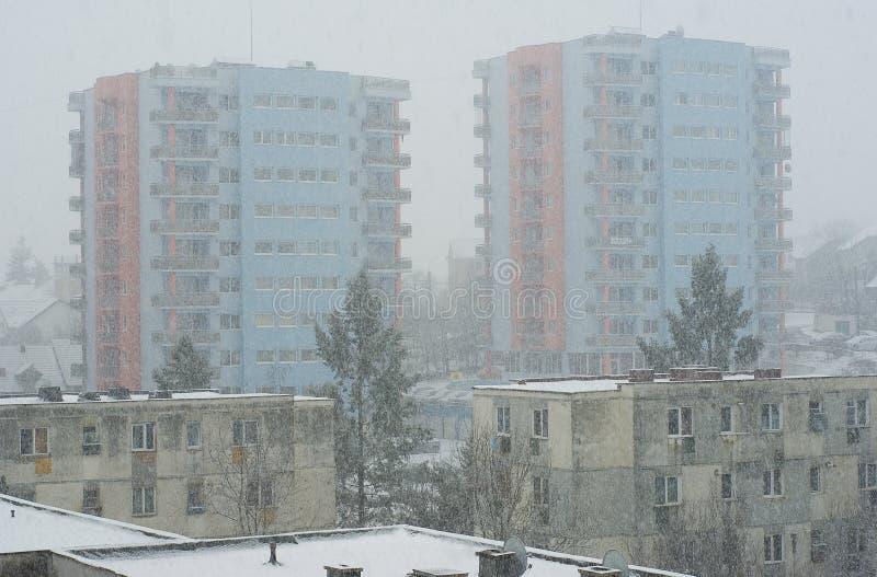 L'hiver extrême en Europe photo stock
