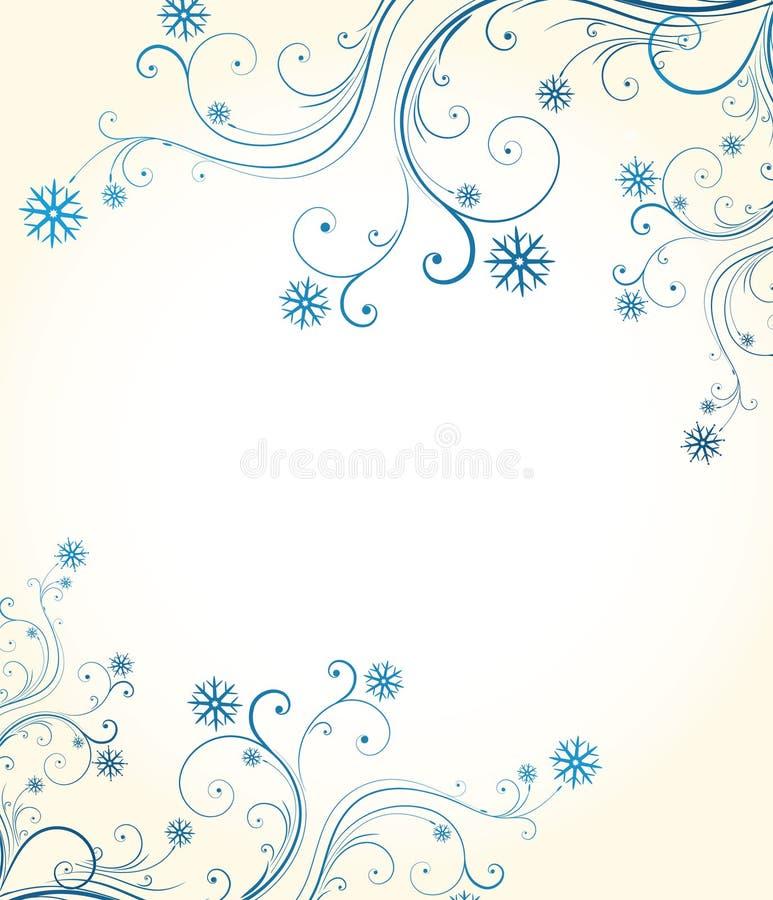 l'hiver floral de fond illustration libre de droits