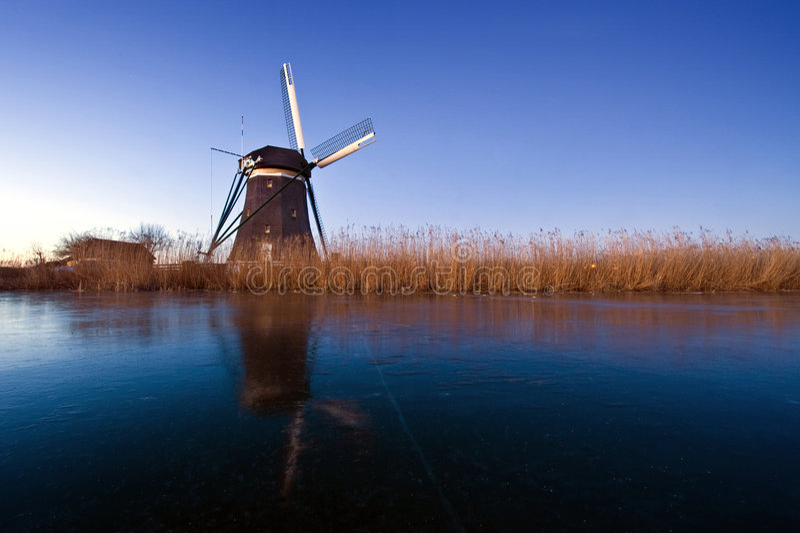 l'hiver hollandais de scène photos stock