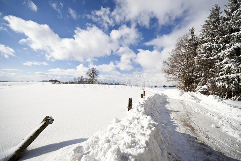 L'hiver im Allgäu images stock