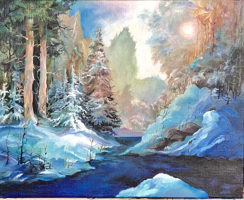 L'hiver La métamorphose saisonnière est la meilleure copie de la nature images libres de droits