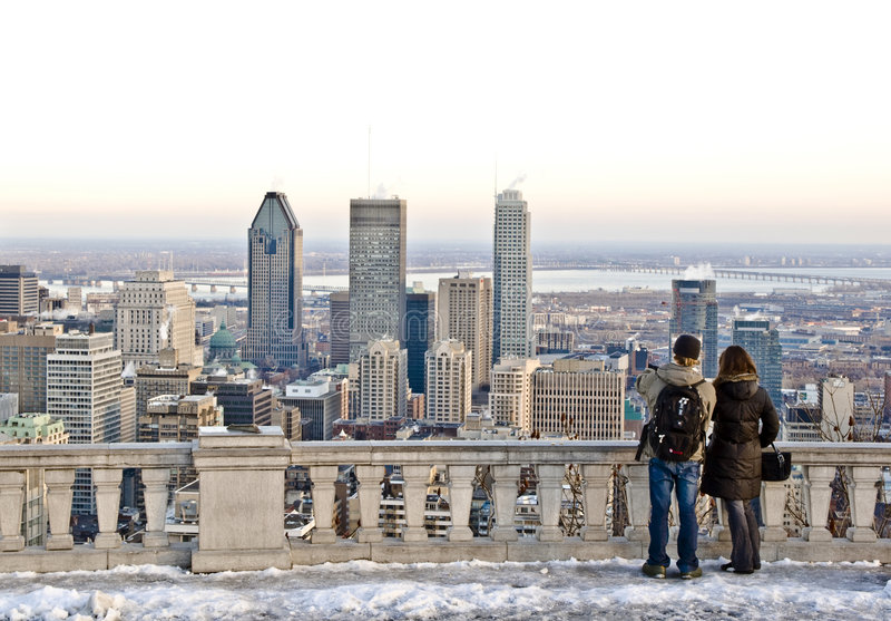 L'hiver Montréal photo libre de droits