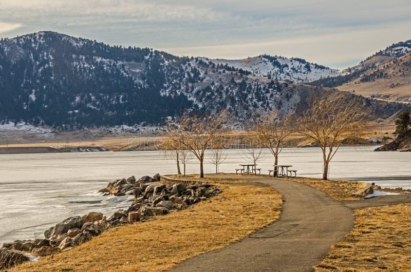 L'hiver part photo libre de droits