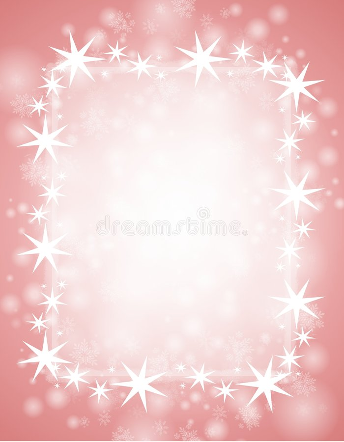l'hiver rose de fond illustration de vecteur