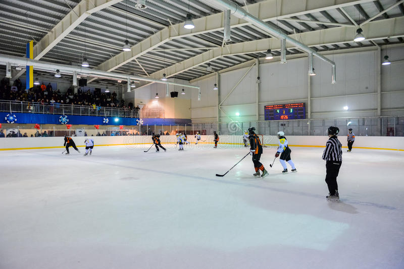 L'hockey des femmes en Ukraine photo stock