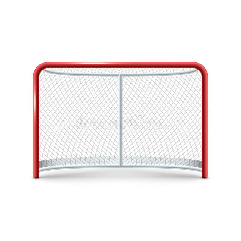 L'hockey realistico gates l'icona sui precedenti bianchi royalty illustrazione gratis