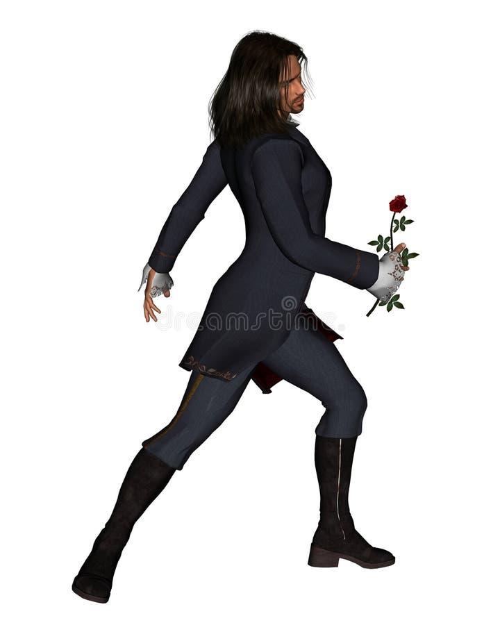 l'homme 3 romantique s'est levé illustration libre de droits