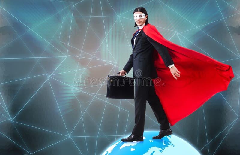 L'homme avec les superpuissances ordonnant le monde photos libres de droits