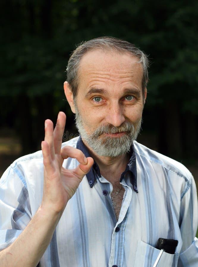 L'homme avec une barbe. photographie stock