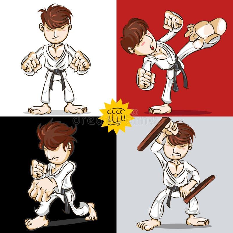 Karaté d'art martial illustration libre de droits