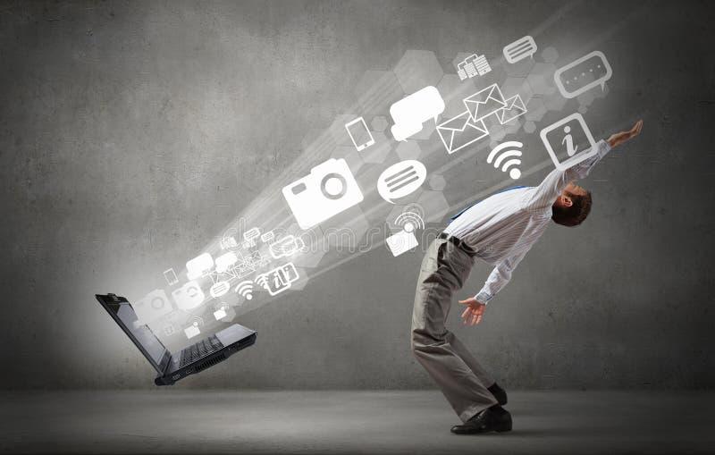 Download L'homme D'affaires élude Des Idées D'éclaboussure Photo stock - Image du émotion, procès: 56480484