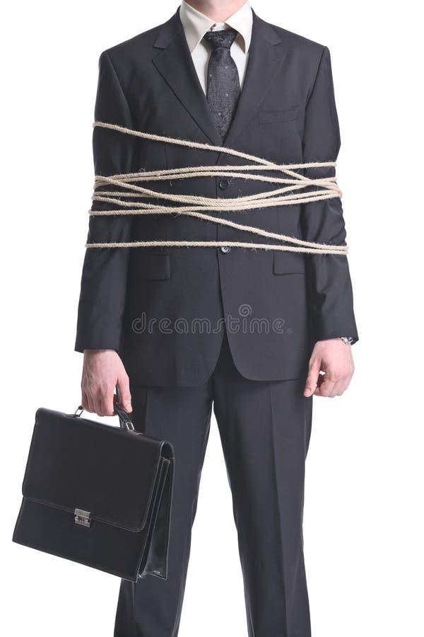 l'homme d'affaires a attaché vers le haut images libres de droits