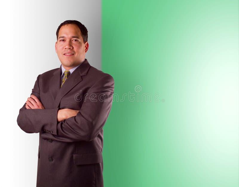 L'homme d'affaires avec des bras a croisé images libres de droits