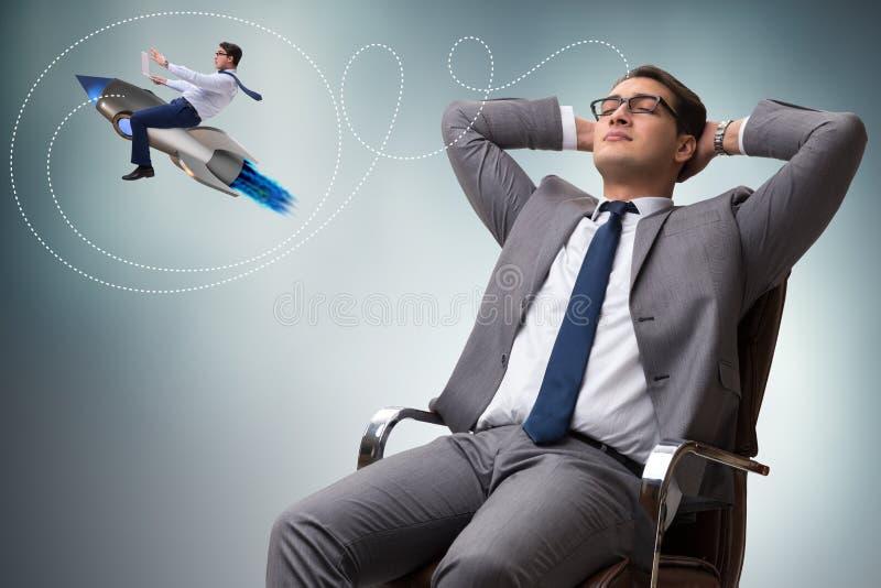 L'homme d'affaires commencent dedans le concept d'affaires photographie stock