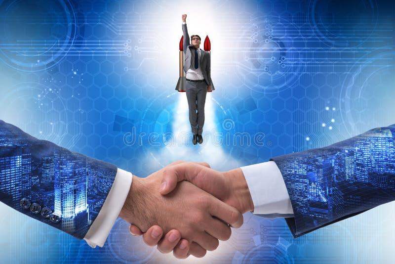 L'homme d'affaires commencent dedans le concept d'affaires images libres de droits