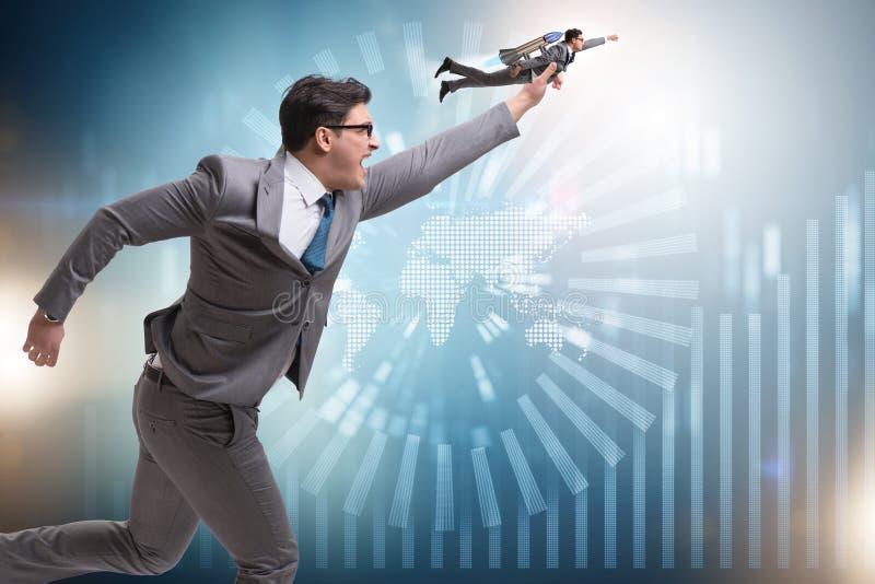L'homme d'affaires commencent dedans le concept d'affaires image libre de droits