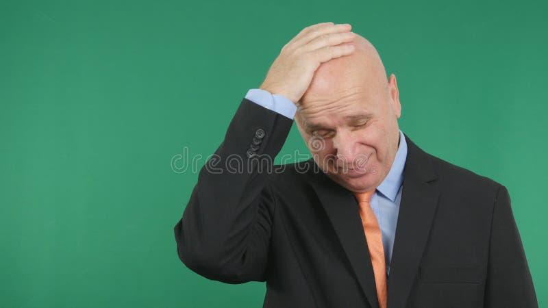 L'homme d'affaires déçu même Make Nervous Hand fait des gestes image stock