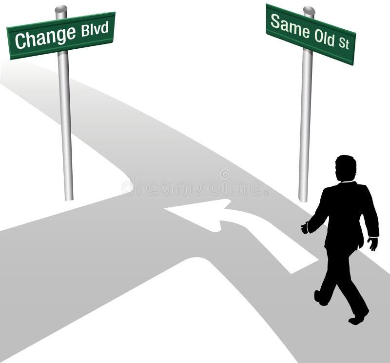 L'homme d'affaires décident mêmes ou changent illustration libre de droits