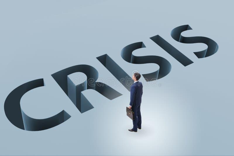 L'homme d'affaires dans le concept d'affaires de crise financière illustration de vecteur