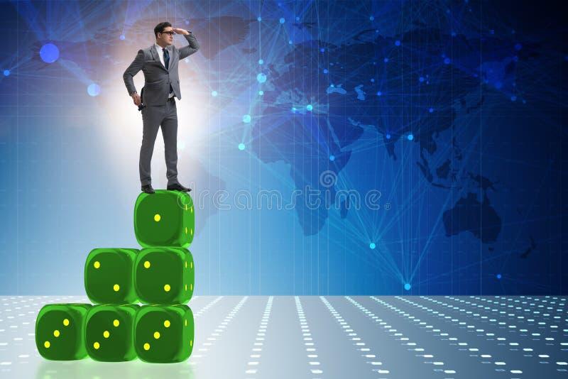 L'homme d'affaires dans le concept d'affaires de prévisions illustration stock