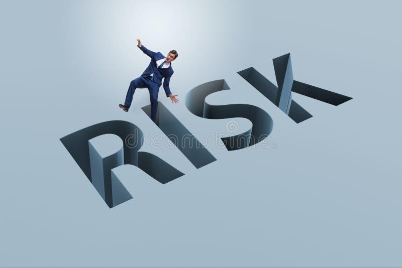 L'homme d'affaires dans le concept d'affaires de risque financier illustration de vecteur