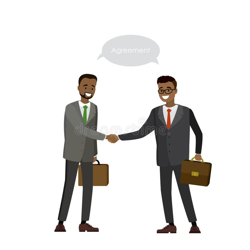 L'homme d'affaires de deux Afros-américains se serrent la main illustration stock