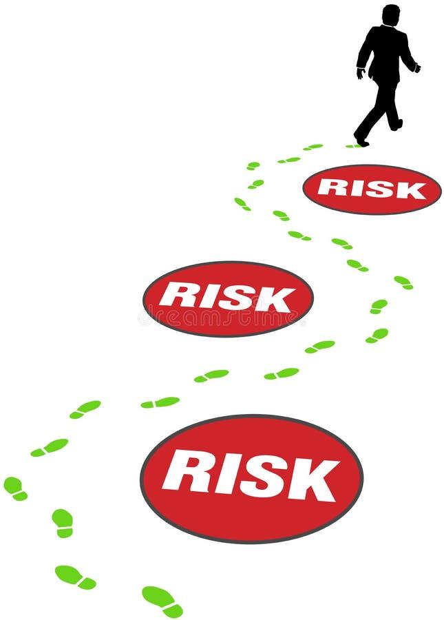 L'homme d'affaires de garantie évitent le risque de danger illustration stock
