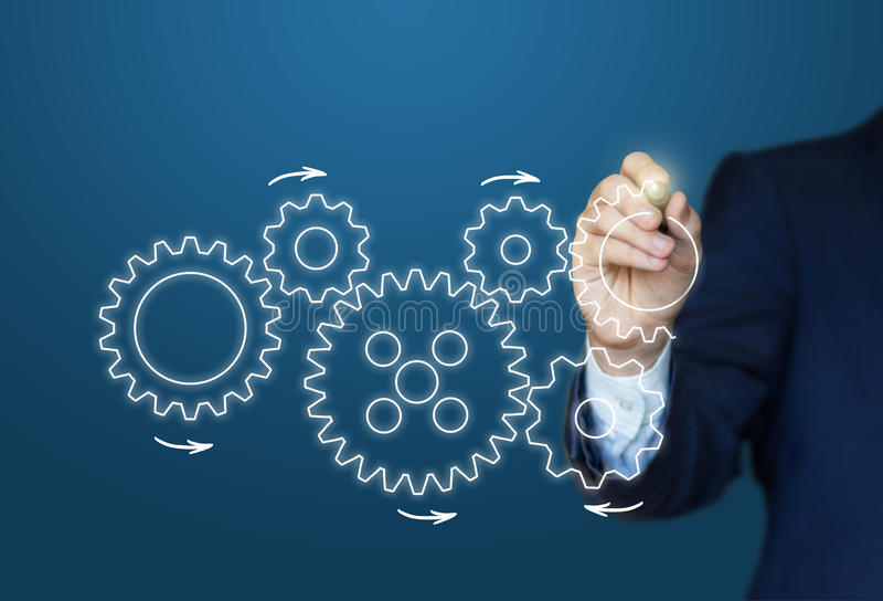 L'homme d'affaires dessine la vitesse au concept de succès illustration stock