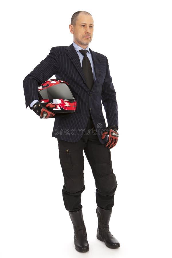 L'homme d'affaires est prêt à jeûner des décisions. photographie stock libre de droits