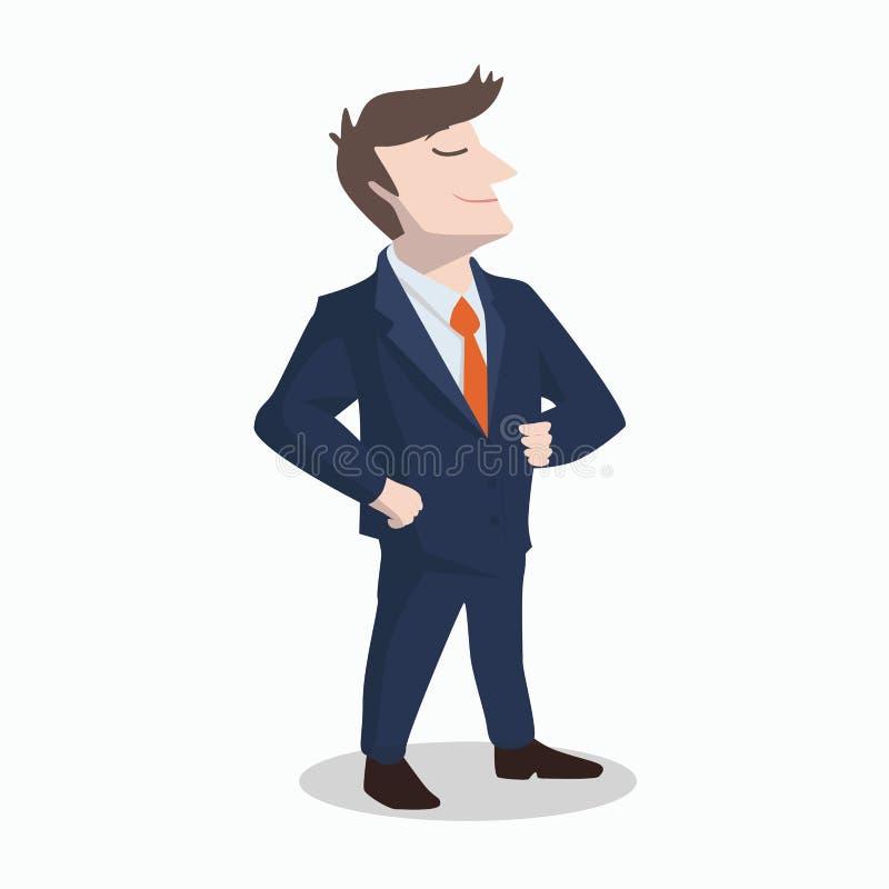 L'homme d'affaires et la personnalité futée illustration de vecteur