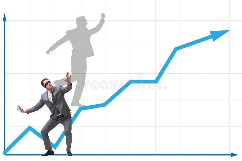 L'homme d'affaires et son ombre dans le concept d'affaires illustration stock