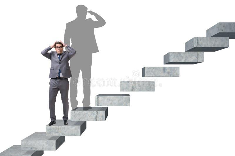 L'homme d'affaires et son ombre dans le concept d'affaires illustration libre de droits