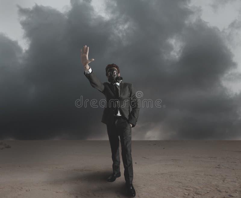 L'homme d'affaires indique le rayonnement images libres de droits