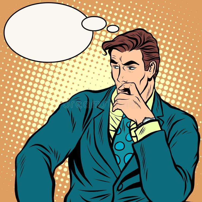 L'homme d'affaires pense le vecteur d'affaires illustration libre de droits