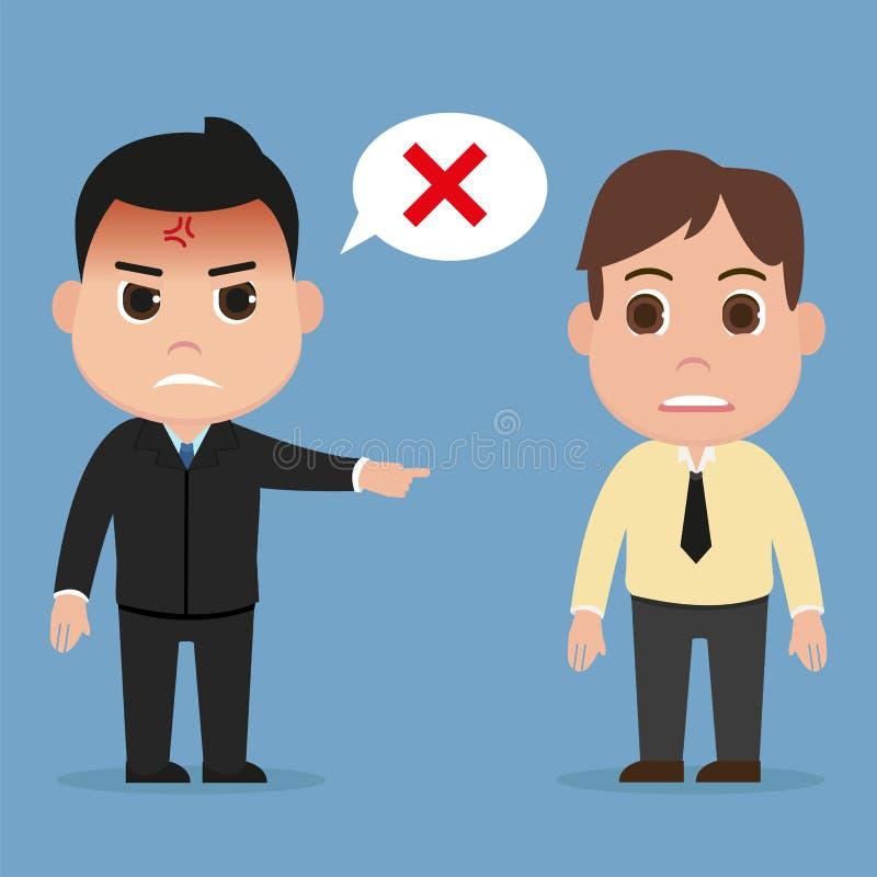 L'homme d'affaires a rejeté le vecteur, concept d'affaires illustration stock