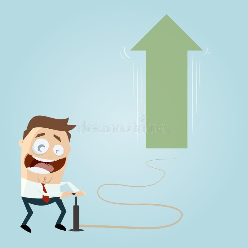L'homme d'affaires travaille pour le succès illustration stock