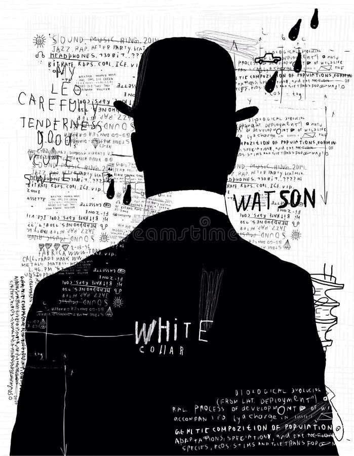 L'homme dans le chapeau illustration libre de droits