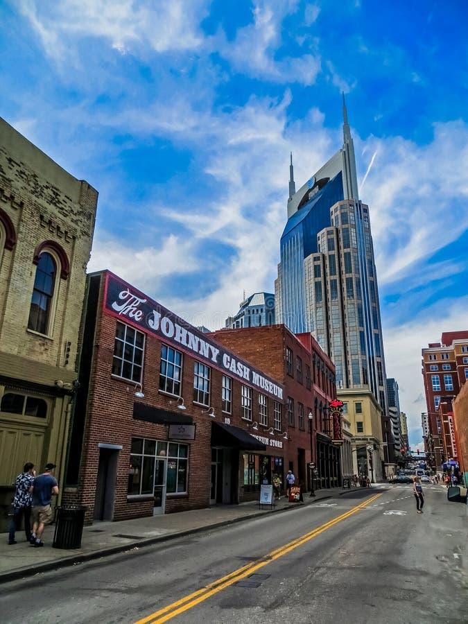 L'homme dans le noir - Johnny Cash Museum - Nashville, TN photo stock