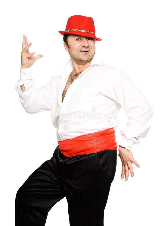 L'homme dans un chapeau rouge photographie stock libre de droits