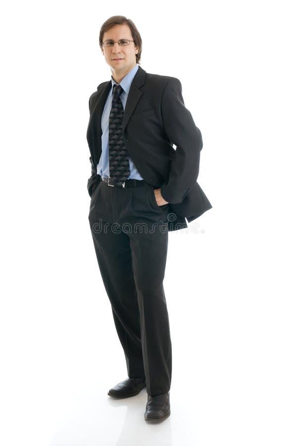 L'homme dans un procès d'isolement sur un blanc photos stock