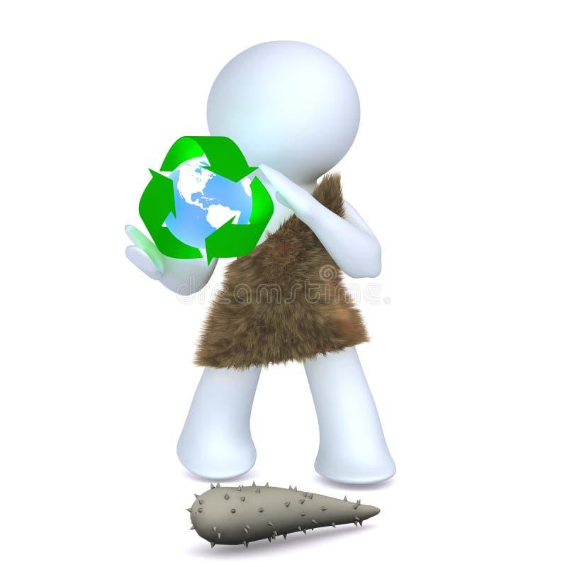 L'homme de caverne de réutilisation illustration de vecteur