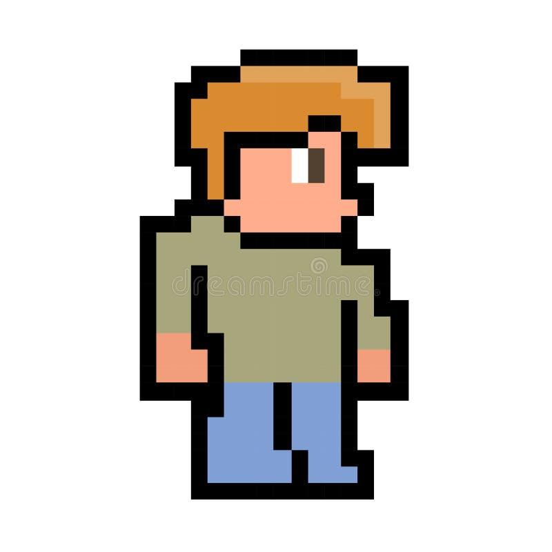 L'homme de pixel images libres de droits