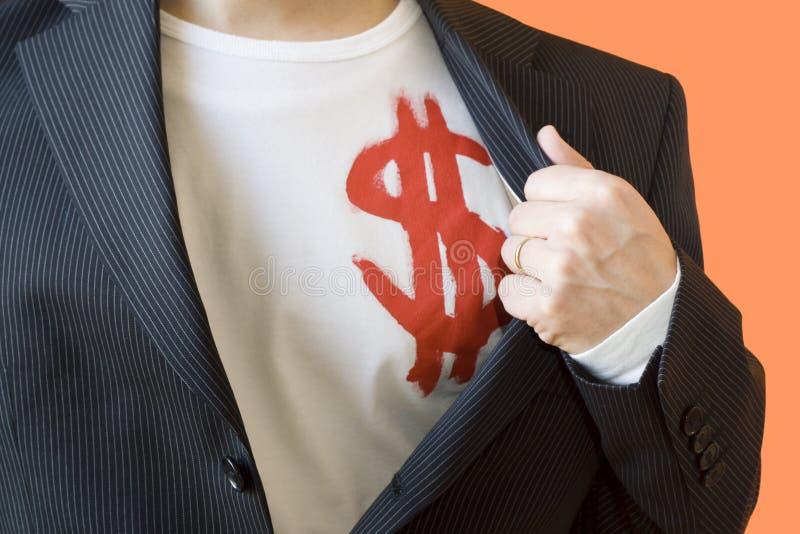 L'homme du dollar image libre de droits