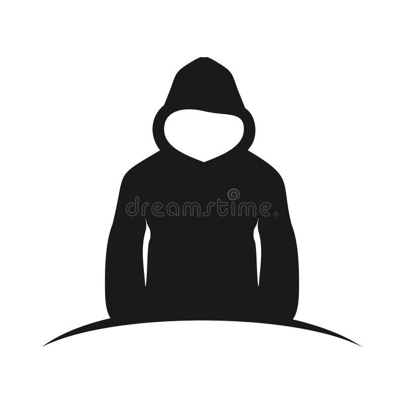 L'homme en Hood Silhouette Rising Design illustration stock