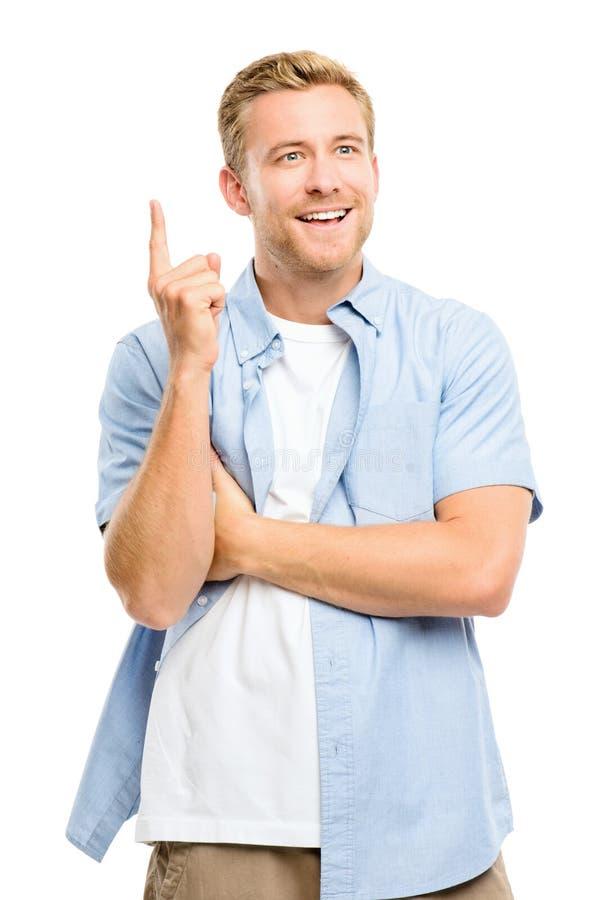 L'homme heureux a une idée photos stock