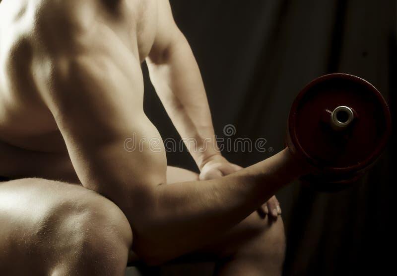 L'homme Joue Des Sports Photographie Stock