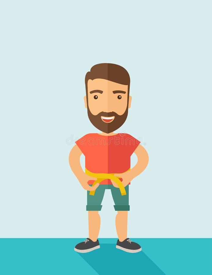 L'homme pratique l'exercice de karaté illustration libre de droits