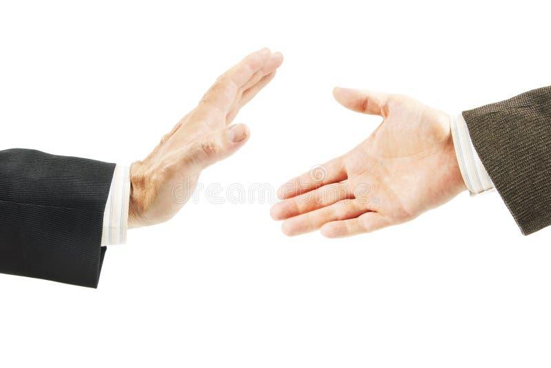 L'homme refuse de l'offre de l'amitié image libre de droits
