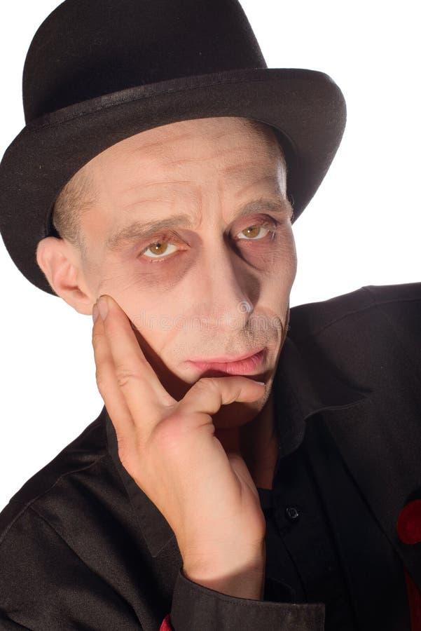 L'homme s'est habillé comme vampire pour le Halloween photographie stock